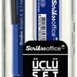 SCRIKSS GRAPH-X METAL 3 LU SET 0,7 MAVI
