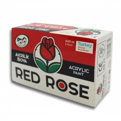 RED ROSE AKRİLİK BOYA 20 ML. 6 RENK